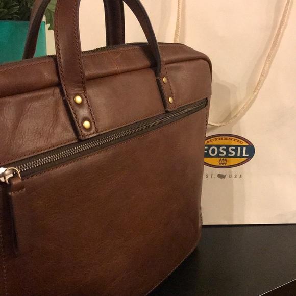 Fossil Mens Haskell Crossbody Messenger Bag